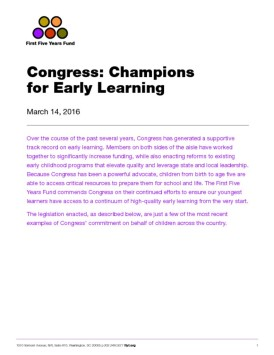 Congress: Champions for Early Learning