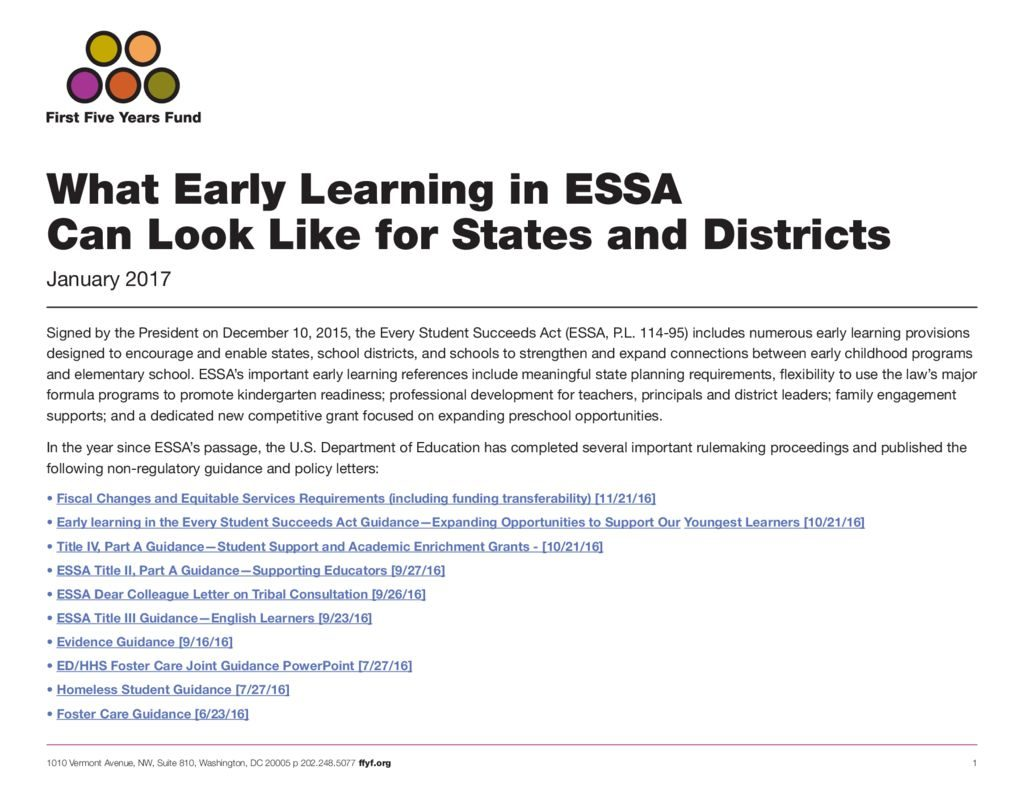 Early learning in essa opportunities for states and districts ffyf has developed this resource to serve as a helpful tool for states writing innovative essa early learning plans this shareable downloadable resource thecheapjerseys Image collections