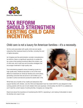 Tax Reform Should Strengthen Existing Child Care Incentives
