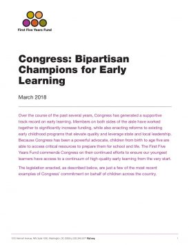 Congress: Bipartisan Champions for Early Learning – March 2018